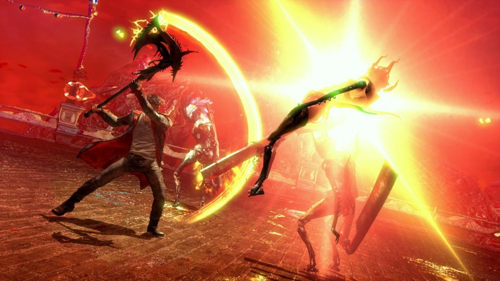 Mit der Axt Arbiter lichtet Dante die Reihen der Feinde
