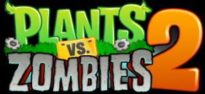 In Plants vs. Zombies 2 logo